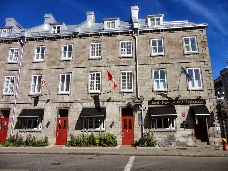 H tel manoir de l esplanade within the walls of old for Design hotel quebec city